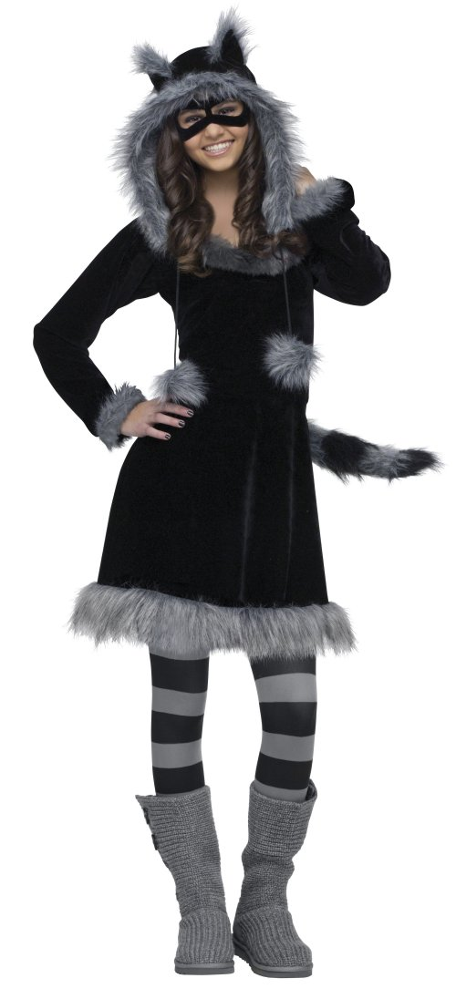 Racy Raccoon Teen Costume